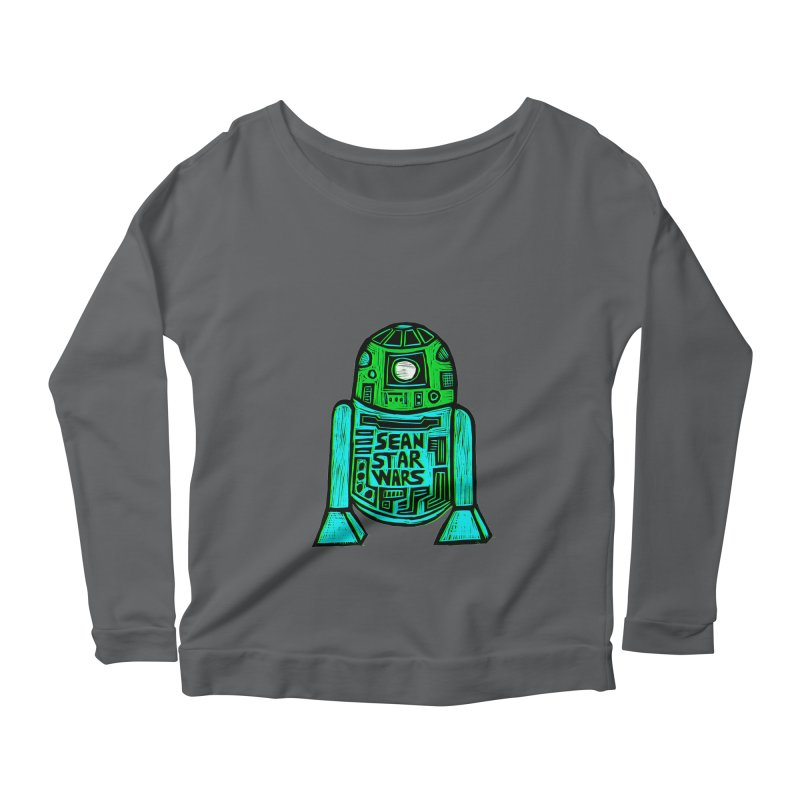 Sean Starwars Droid Women's Longsleeve Scoopneck  by Sean StarWars' Artist Shop