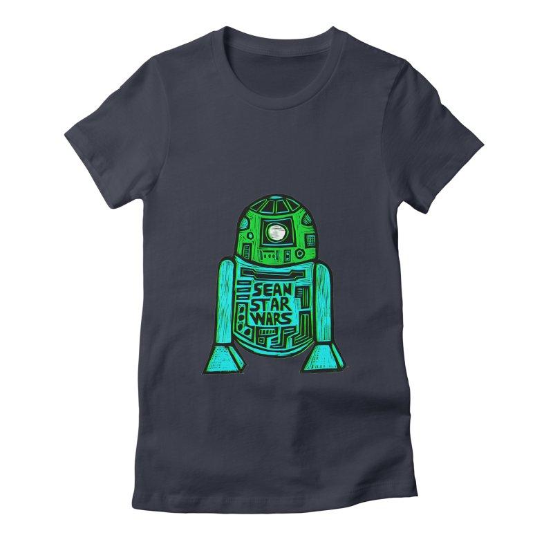 Sean Starwars Droid Women's Fitted T-Shirt by Sean StarWars' Artist Shop