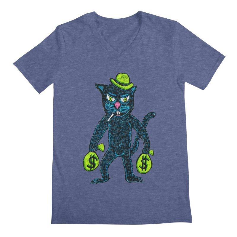 Cat Burglar Men's V-Neck by Sean StarWars' Artist Shop