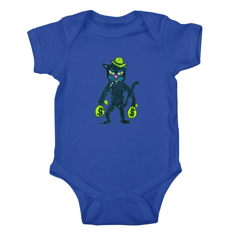 Cat Burglar Kids Baby Bodysuit by Sean StarWars' Artist Shop
