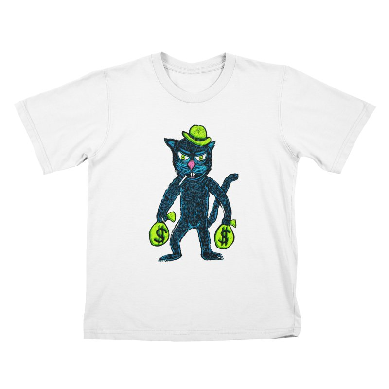 Cat Burglar Kids T-Shirt by Sean StarWars' Artist Shop