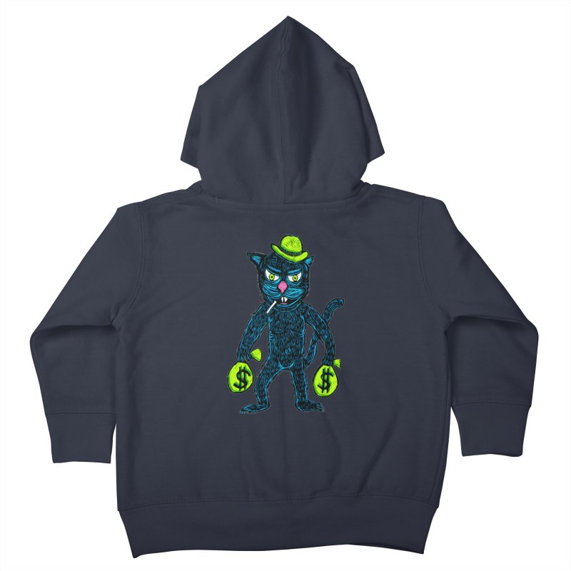 Cat Burglar Kids Toddler Zip-Up Hoody by Sean StarWars' Artist Shop