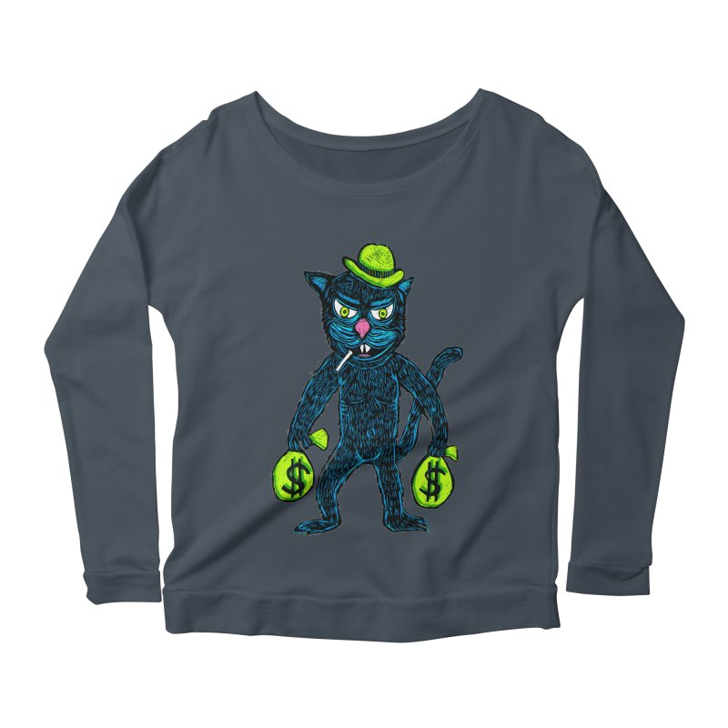 Cat Burglar Women's Longsleeve Scoopneck  by Sean StarWars' Artist Shop