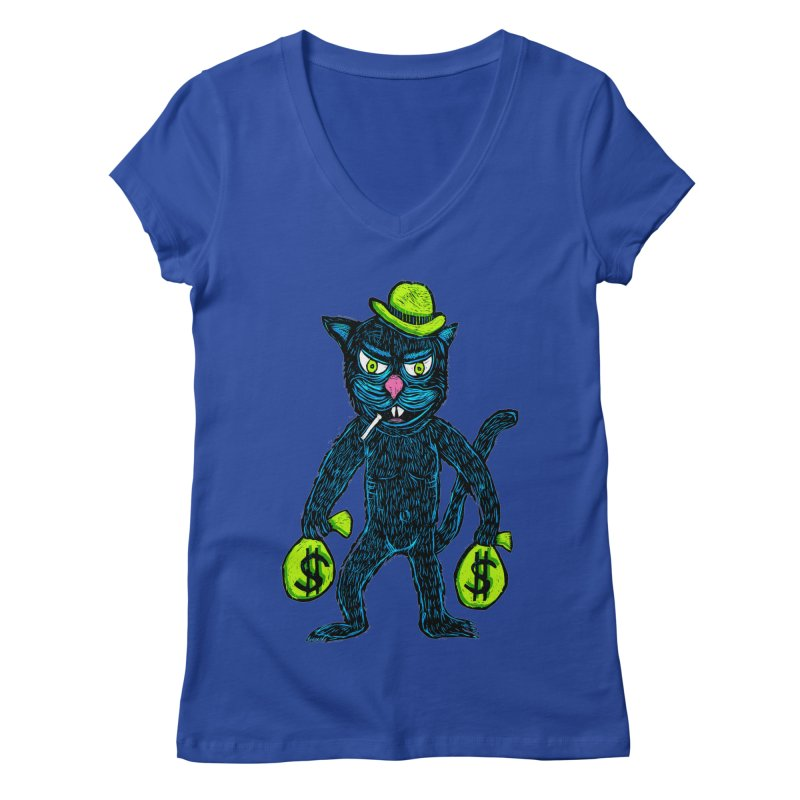 Cat Burglar Women's V-Neck by Sean StarWars' Artist Shop