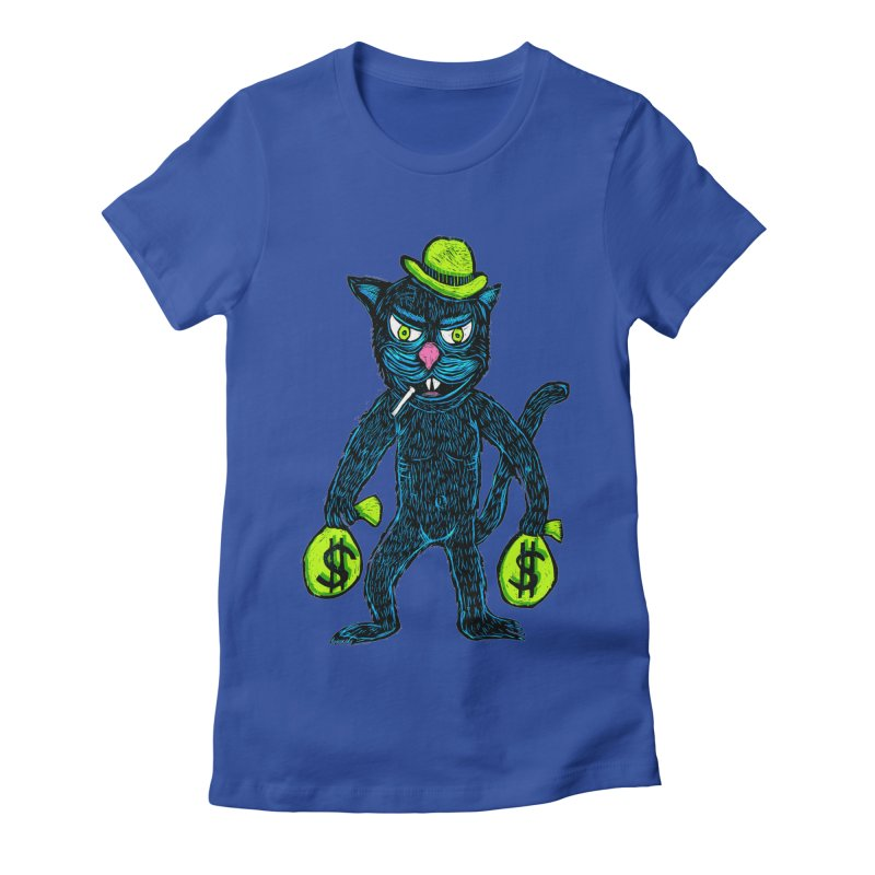 Cat Burglar Women's Fitted T-Shirt by Sean StarWars' Artist Shop