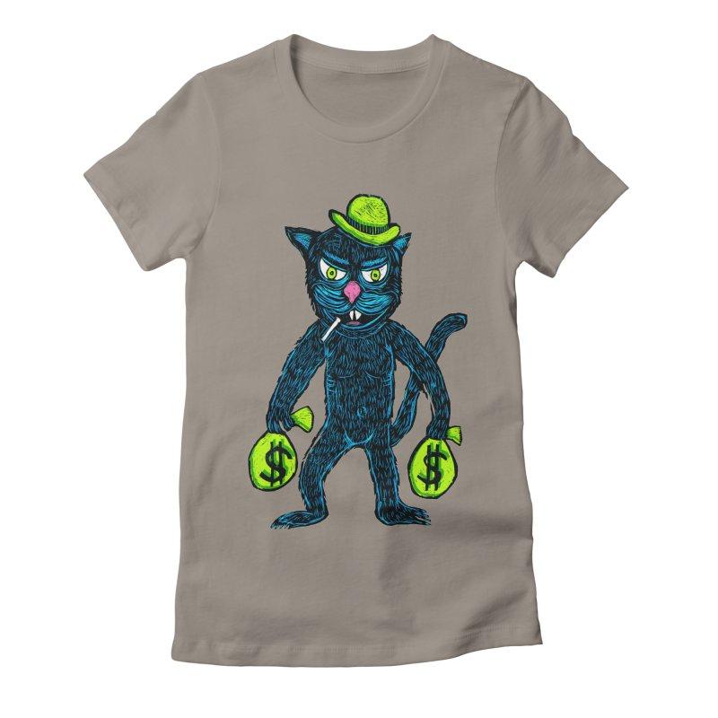 Cat Burglar Women's Fitted T-Shirt by Sean StarWars' Artist Shop