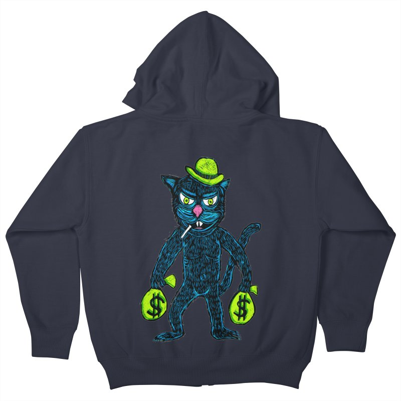 Cat Burglar Kids Zip-Up Hoody by Sean StarWars' Artist Shop