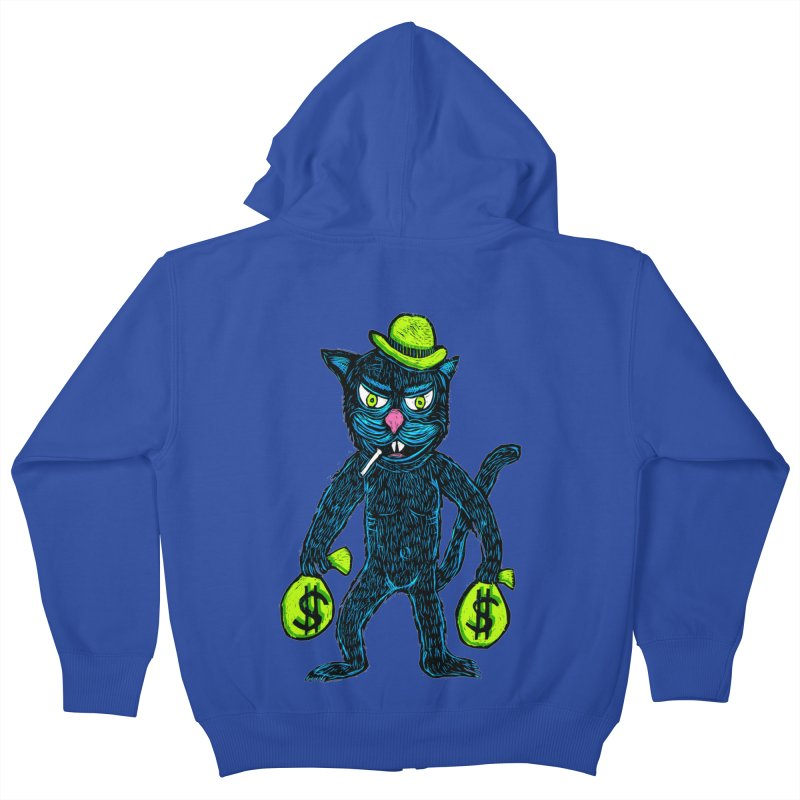 Cat Burglar Kids Zip-Up Hoody by Sean StarWars' Artist Shop