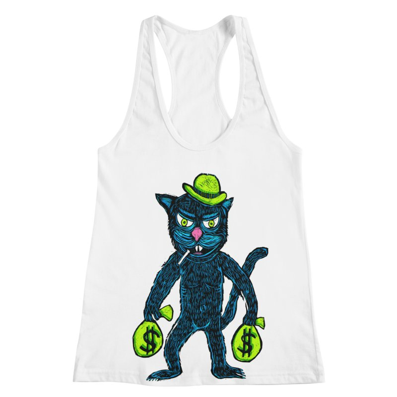 Cat Burglar Women's Racerback Tank by Sean StarWars' Artist Shop