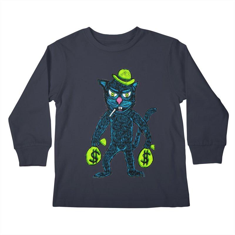 Cat Burglar Kids Longsleeve T-Shirt by Sean StarWars' Artist Shop