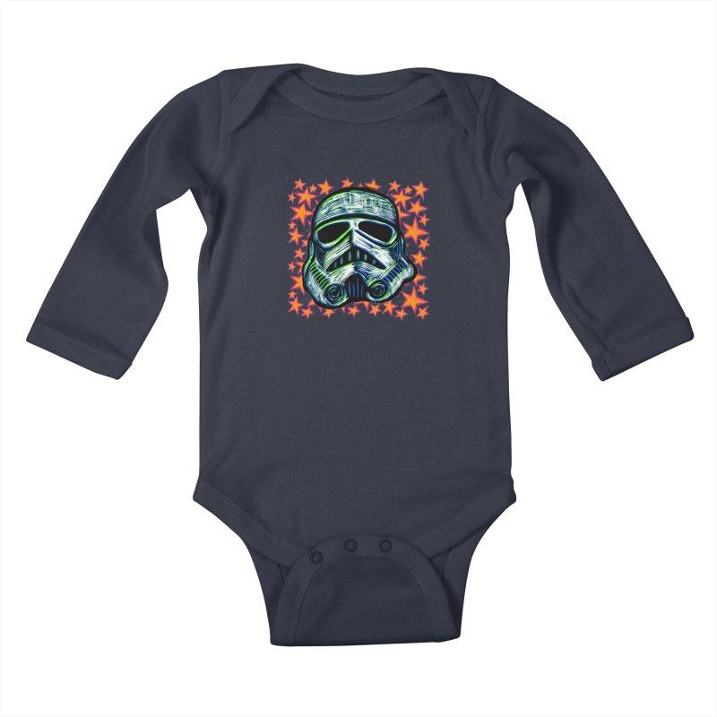Trooper Kids Baby Longsleeve Bodysuit by Sean StarWars' Artist Shop
