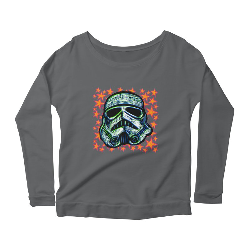 Trooper Women's Longsleeve Scoopneck  by Sean StarWars' Artist Shop