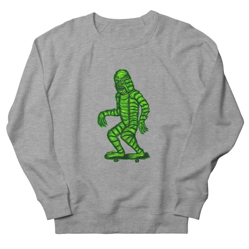 The Creature Skates Among Us Women's Sweatshirt by Sean StarWars' Artist Shop