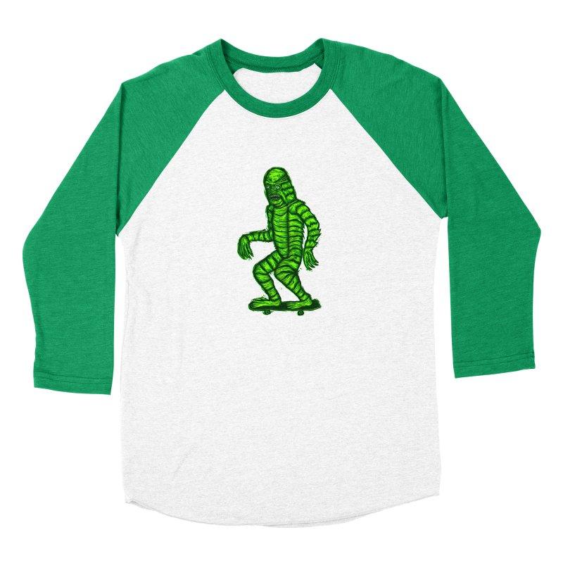 The Creature Skates Among Us Women's Longsleeve T-Shirt by Sean StarWars' Artist Shop