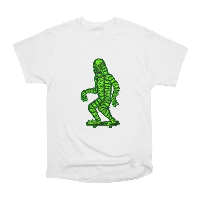 The Creature Skates Among Us Men's Heavyweight T-Shirt by Sean StarWars' Artist Shop