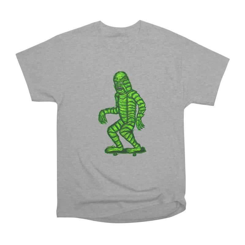 The Creature Skates Among Us Women's Heavyweight Unisex T-Shirt by Sean StarWars' Artist Shop