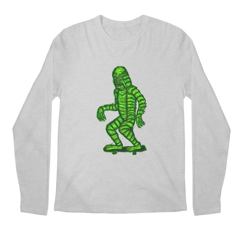 The Creature Skates Among Us Men's Regular Longsleeve T-Shirt by Sean StarWars' Artist Shop