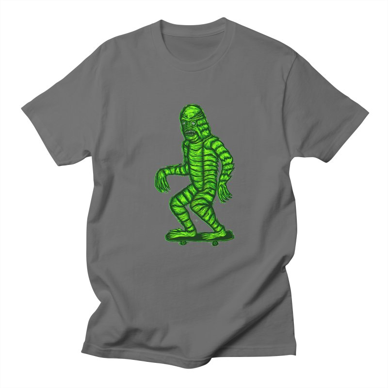 The Creature Skates Among Us Men's Regular T-Shirt by Sean StarWars' Artist Shop