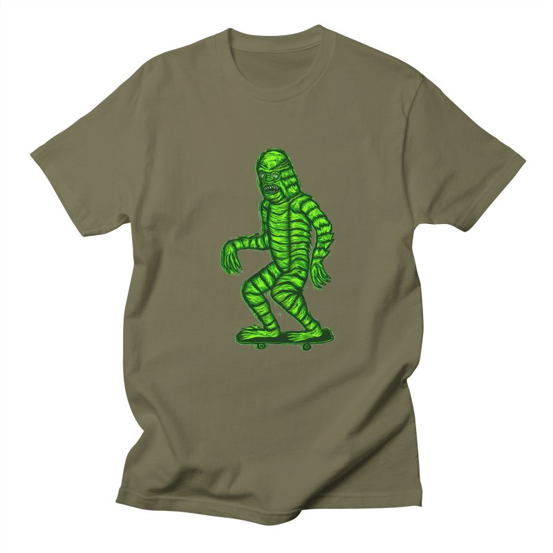 The Creature Skates Among Us Women's Unisex T-Shirt by Sean StarWars' Artist Shop