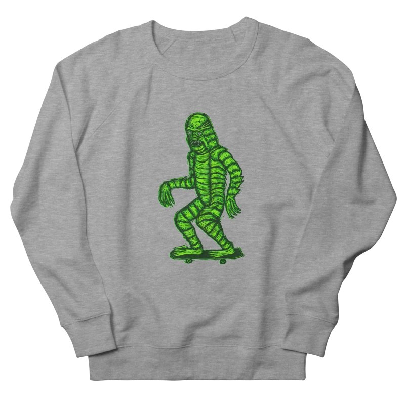 The Creature Skates Among Us Women's Sweatshirt by Sean StarWars' Artist Shop