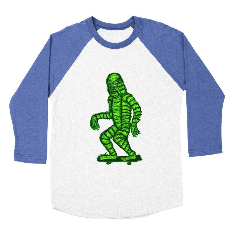 Skating Creature Women's Baseball Triblend T-Shirt by Sean StarWars' Artist Shop