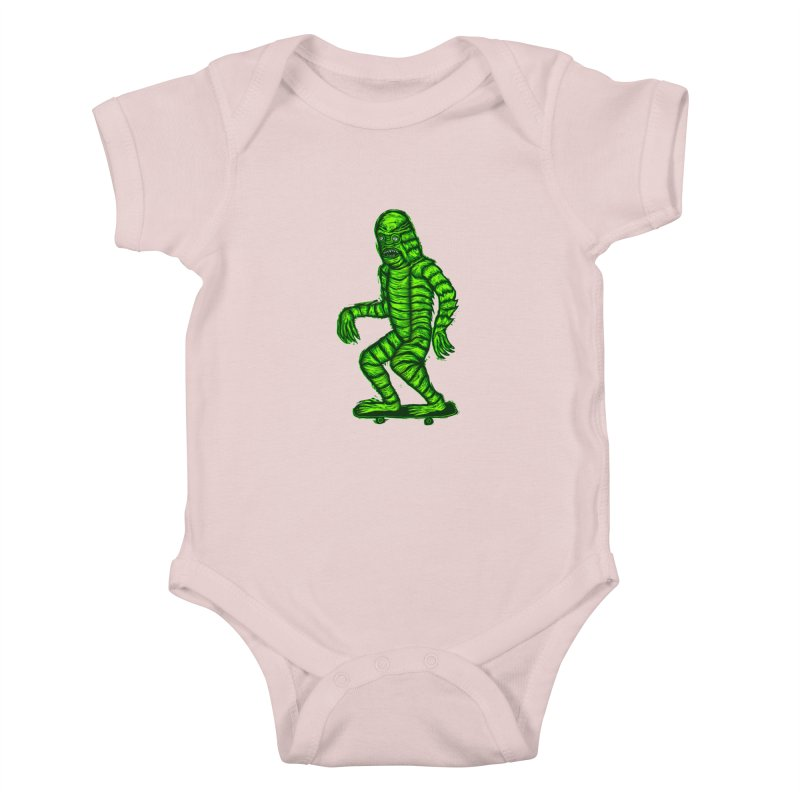 The Creature Skates Among Us Kids Baby Bodysuit by Sean StarWars' Artist Shop