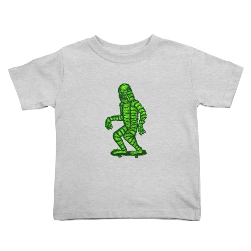 The Creature Skates Among Us Kids Toddler T-Shirt by Sean StarWars' Artist Shop