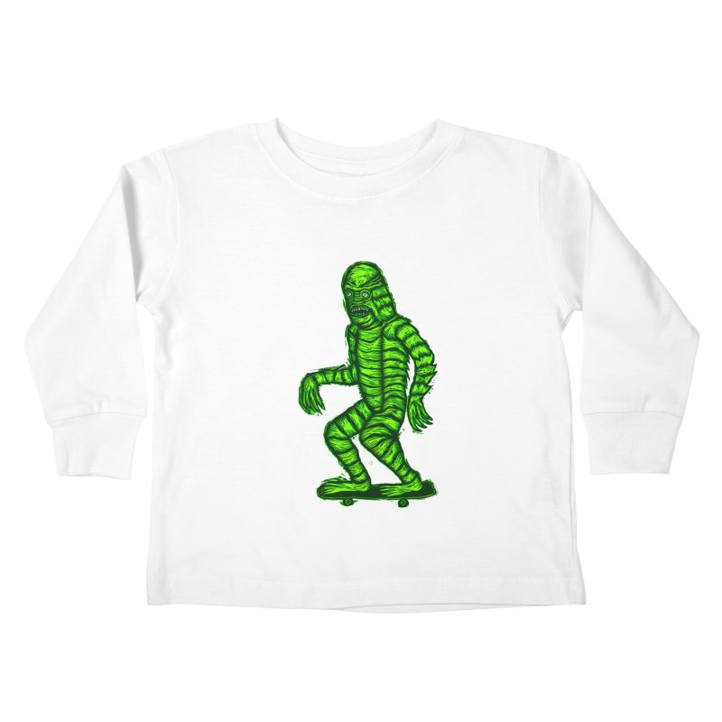 The Creature Skates Among Us Kids Toddler Longsleeve T-Shirt by Sean StarWars' Artist Shop