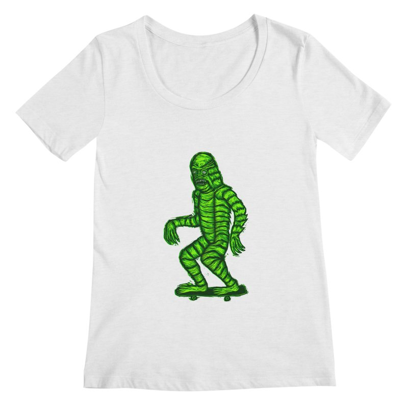 The Creature Skates Among Us Women's Regular Scoop Neck by Sean StarWars' Artist Shop