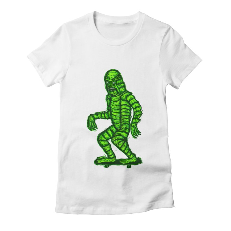 The Creature Skates Among Us Women's T-Shirt by Sean StarWars' Artist Shop