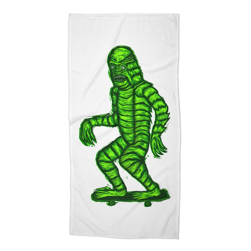 The Creature Skates Among Us Accessories Beach Towel by Sean StarWars' Artist Shop