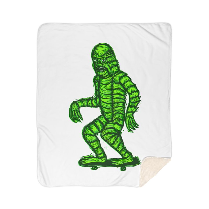 The Creature Skates Among Us Home Blanket by Sean StarWars' Artist Shop