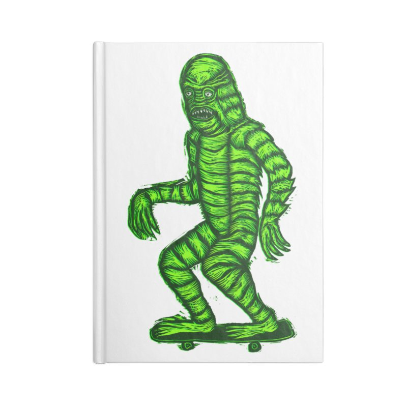 The Creature Skates Among Us Accessories Lined Journal Notebook by Sean StarWars' Artist Shop