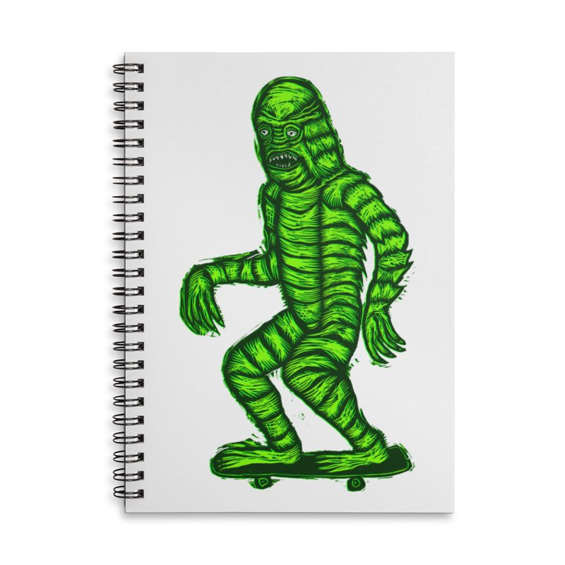 The Creature Skates Among Us Accessories Lined Spiral Notebook by Sean StarWars' Artist Shop