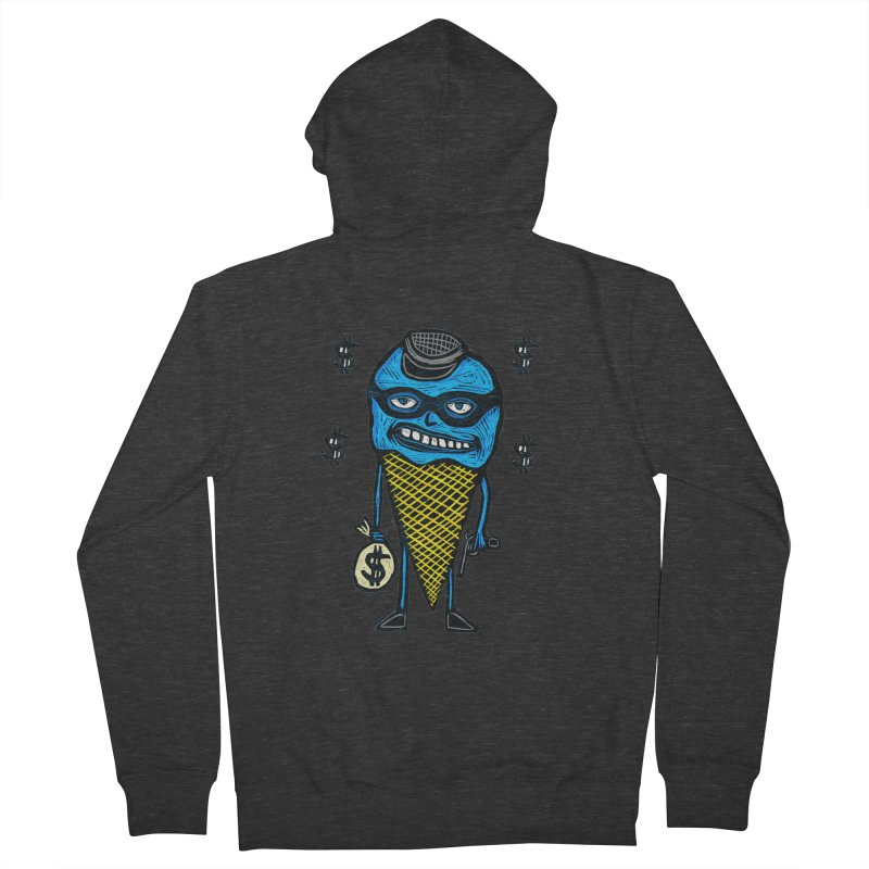 Bank Robber Cone Women's French Terry Zip-Up Hoody by Sean StarWars' Artist Shop