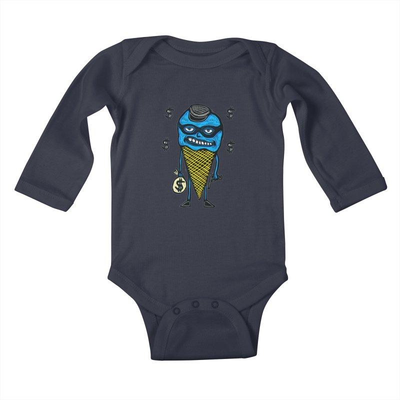 Bank Robber Cone Kids Baby Longsleeve Bodysuit by Sean StarWars' Artist Shop