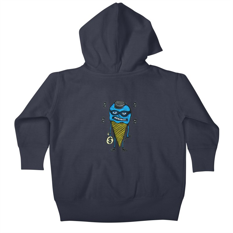 Bank Robber Cone Kids Baby Zip-Up Hoody by Sean StarWars' Artist Shop