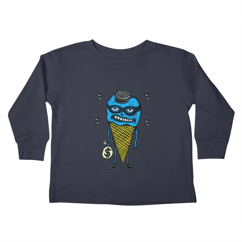 Bank Robber Cone Kids Toddler Longsleeve T-Shirt by Sean StarWars' Artist Shop