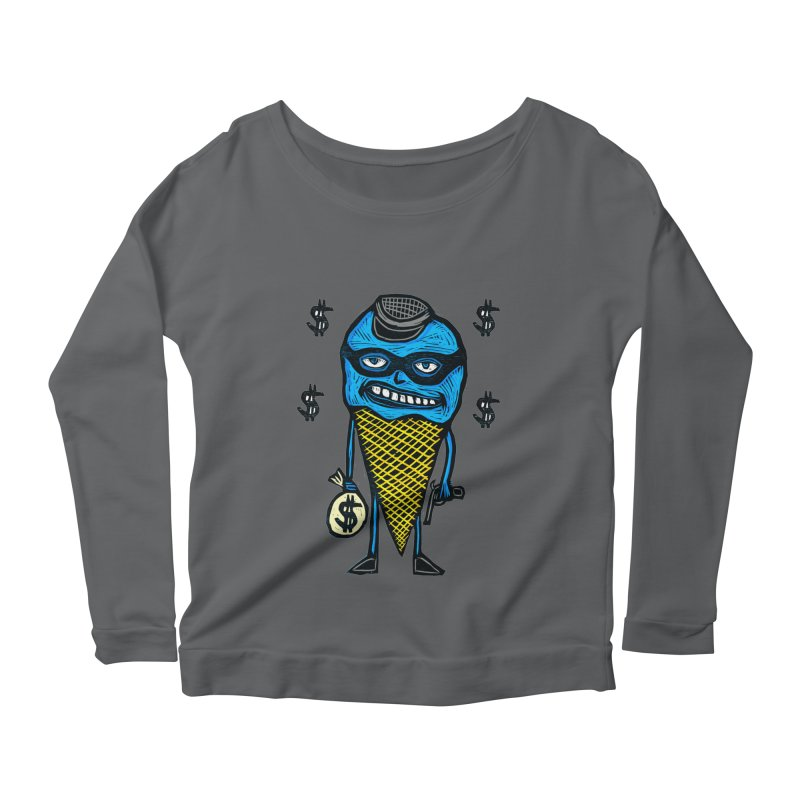 Bank Robber Cone Women's Scoop Neck Longsleeve T-Shirt by Sean StarWars' Artist Shop