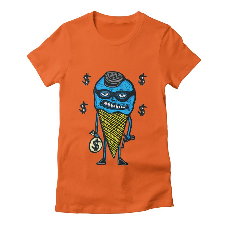 Bank Robber Cone Women's Fitted T-Shirt by Sean StarWars' Artist Shop