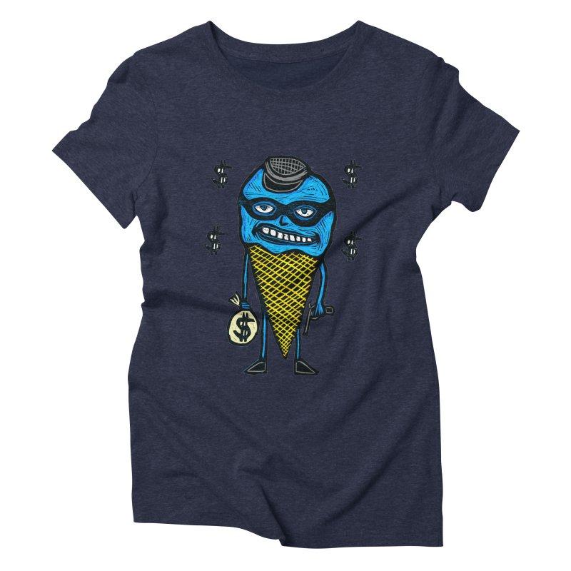 Bank Robber Cone Women's Triblend T-Shirt by Sean StarWars' Artist Shop
