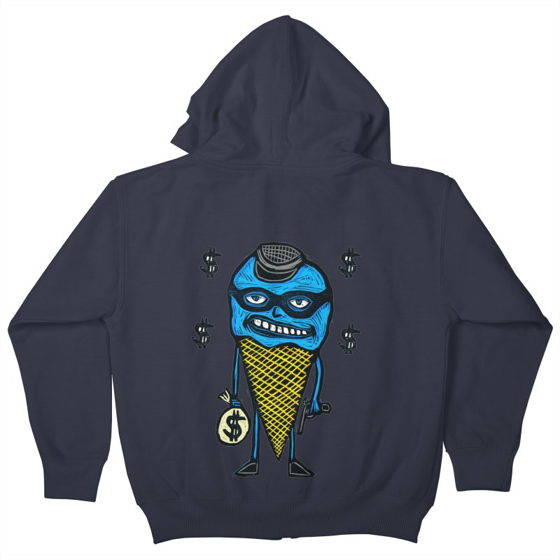 Bank Robber Cone Kids Zip-Up Hoody by Sean StarWars' Artist Shop