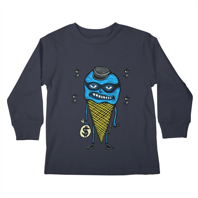 Bank Robber Cone Kids Longsleeve T-Shirt by Sean StarWars' Artist Shop