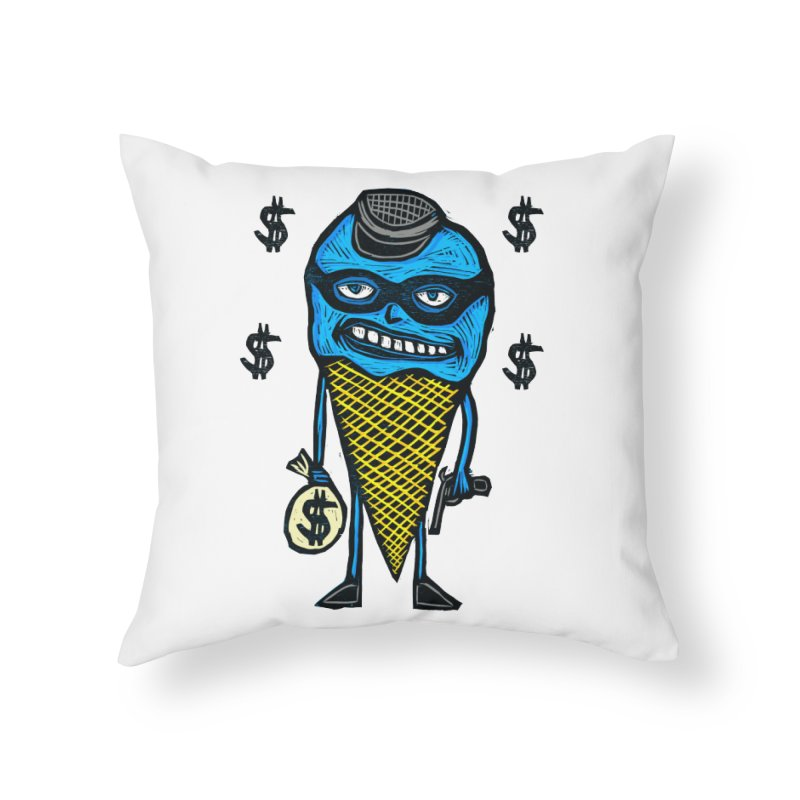Bank Robber Cone Home Throw Pillow by Sean StarWars' Artist Shop