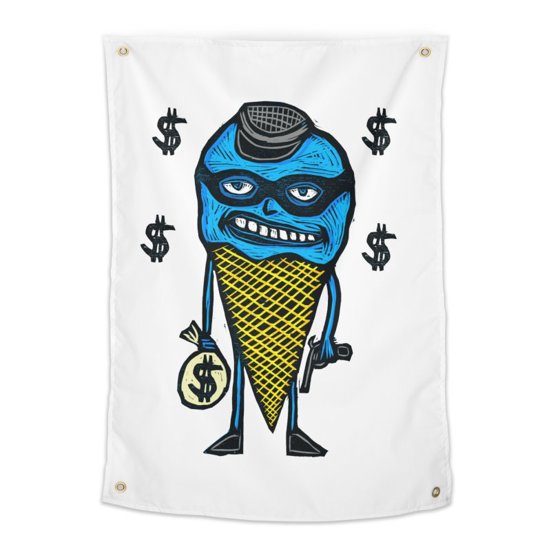 Bank Robber Cone Home Tapestry by Sean StarWars' Artist Shop