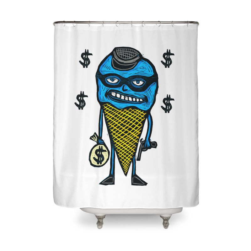 Bank Robber Cone Home Shower Curtain by Sean StarWars' Artist Shop