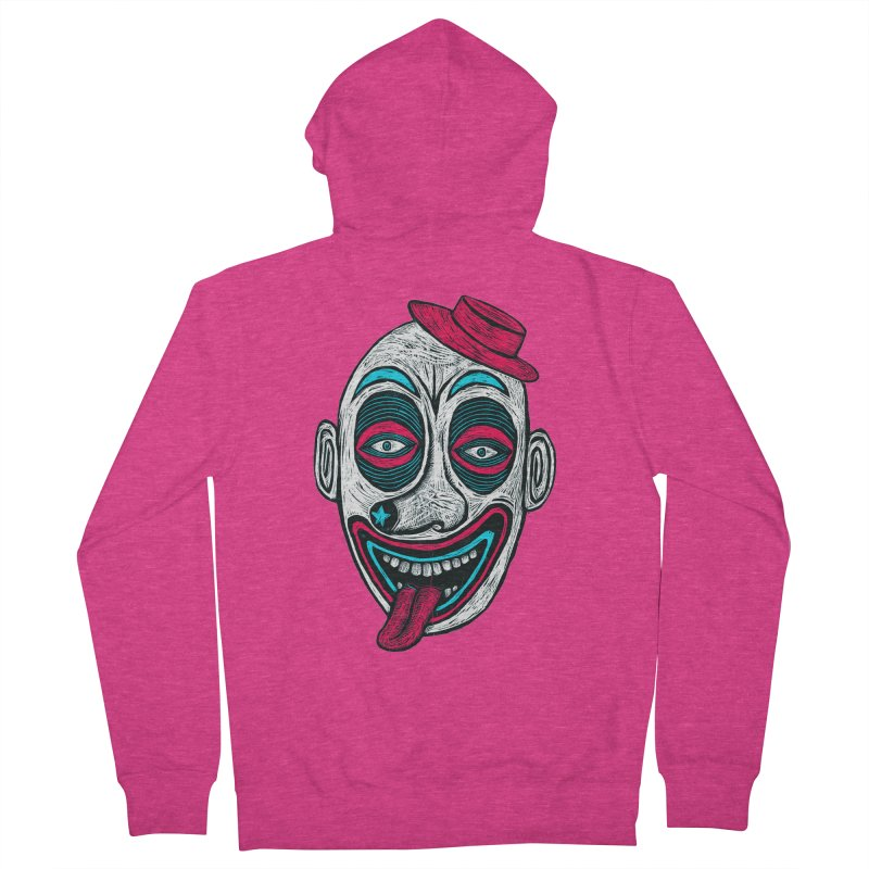 Clown Women's French Terry Zip-Up Hoody by Sean StarWars' Artist Shop