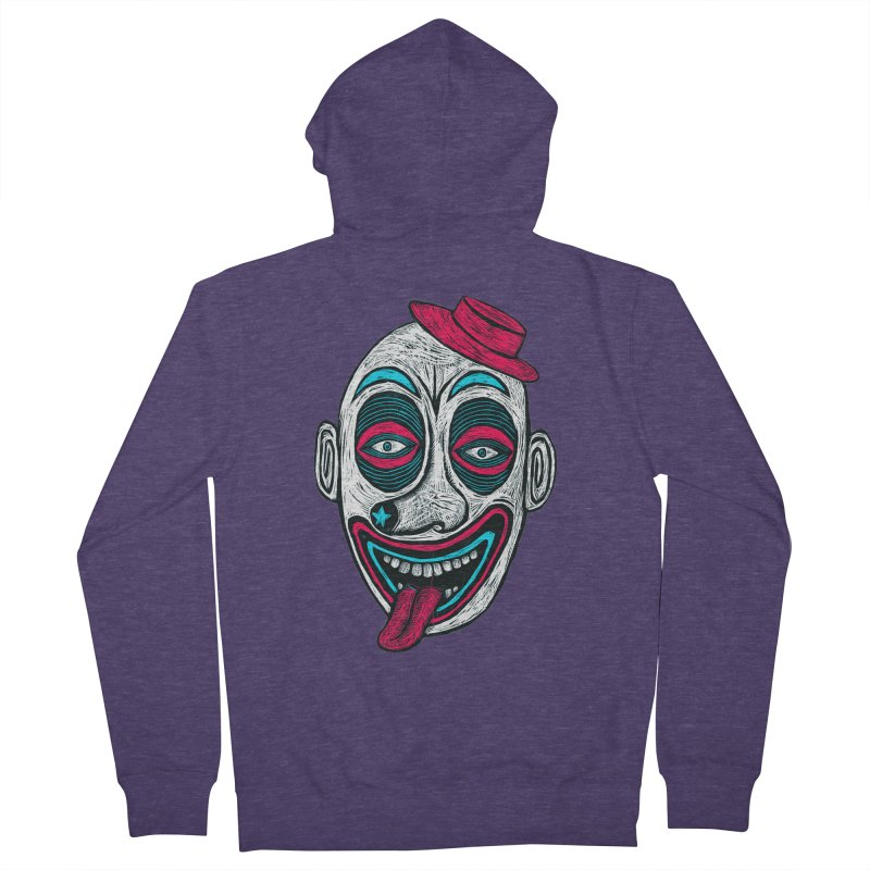 Clown Men's French Terry Zip-Up Hoody by Sean StarWars' Artist Shop