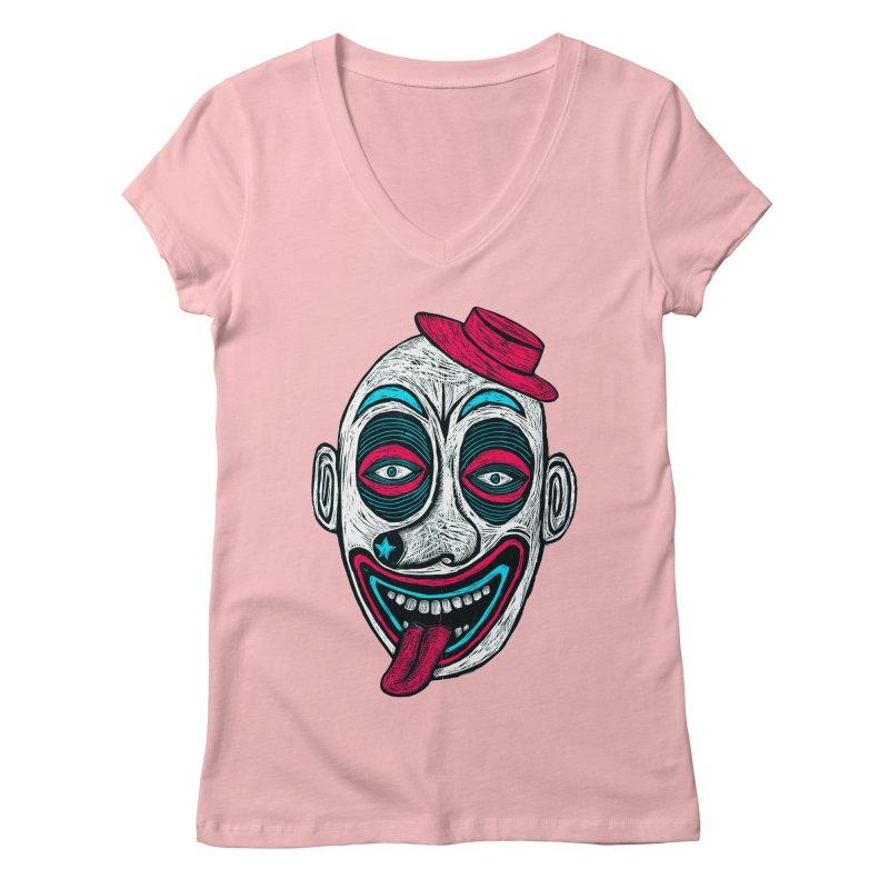 Clown Women's V-Neck by Sean StarWars' Artist Shop