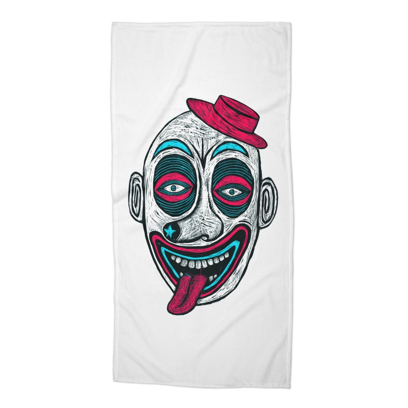 Clown Accessories Beach Towel by Sean StarWars' Artist Shop